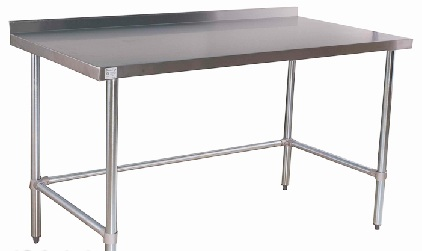 All Stainless Open Base Work Tables