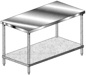Economy Stainless Steel Work Tables