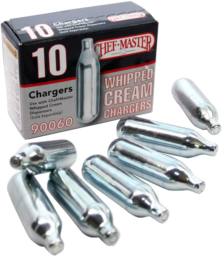 Chef Master 90060 Whipped Cream Chargers 10-Pack