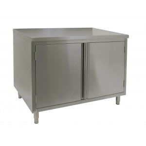 Flat Top Work Table Cabinet With Hinged Doors 24x36