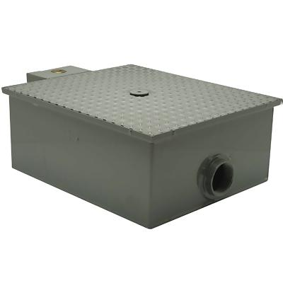 Grease Trap 40 lb Low Profile by Zurn w 3