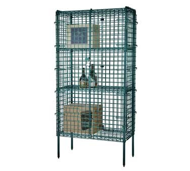 Security Cage Liquor Storage 24 x 36 Green Epoxy