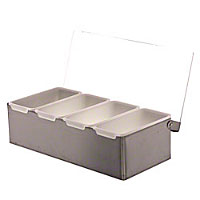 Update International (CD-4) - 4-Compartment Condiment Holder