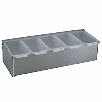 Update International (CD-5) - 5-Compartment Condiment Holder