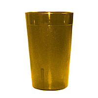 Update International TBP-05A 5 oz Amber Stackable Tumblers