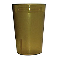 Update International TBP-08A 8 oz Amber Stackable Tumblers