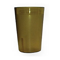 Update International TBP-10A 10 oz Amber Stackable Tumblers