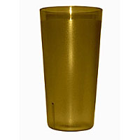 Update International TBP-20A 20 oz Amber Stackable Tumblers