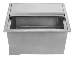Complete Stainless Drop-In Ice-Bin & Cover DIB-15x18