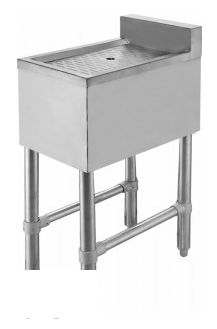 Free Standing All-Stainless Under Bar Drainboard FSDB-12