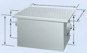 Grease Trap capacity 150 LBS 75 GPM by Rockford (RP-75)
