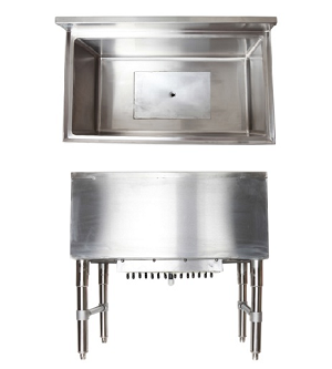 Under Bar Ice Chest -18x36 All Stainless Heavy Duty w Cold Plate