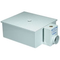 LOW PROFILE GREASE TRAP 40 LB ZURN Z1171-500 20 GPM w 3' INLET