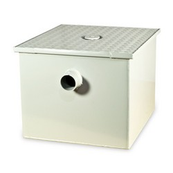 Grease Trap Capacity 200 lbs by Zurn 100 GPM w 4' Inlet GT2700-100